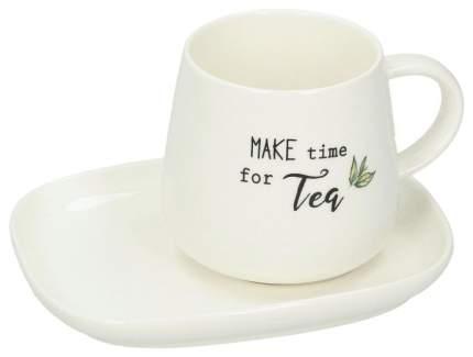 Чайная пара Easy Life R1904/KITE Белый, зеленый, черный