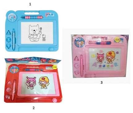 Магнитная доска для рисования с 3 штампиками и счетами Shantou 63754