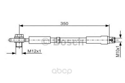 Шланг тормозной Bosch 1987481091
