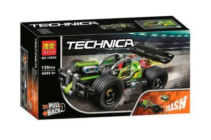 Конструктор пластиковый BELA 10820 Зеленый гоночный автомобиль