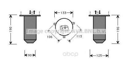 Радиатор кондиционера автомобильный Ava BWD218