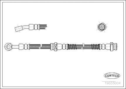 Шланг тормозной системы CORTECO 19033004
