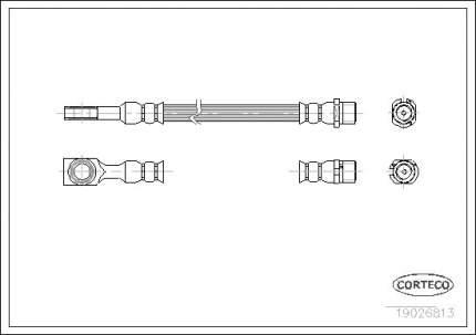 Шланг тормозной CORTECO 19026813