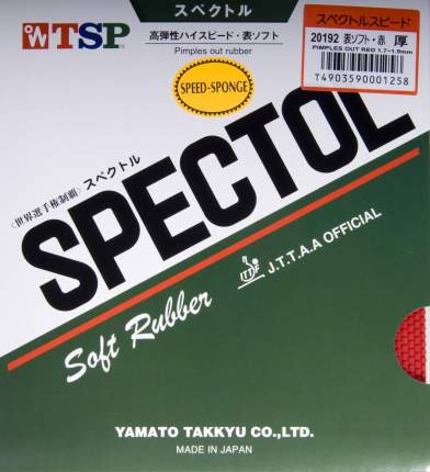 Накладка для ракетки TSP Spectol Speed Sponge черная 2.15