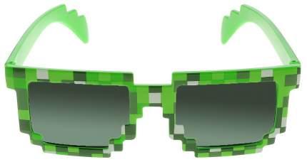Очки пиксельные солнечные Minecraft, цвет зеленый
