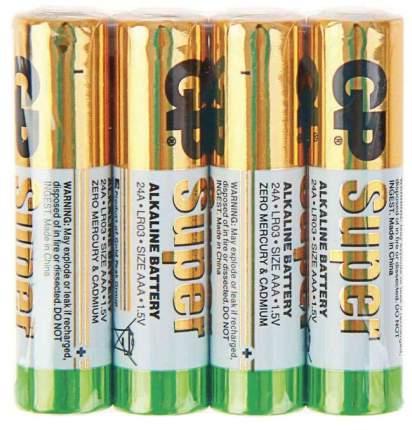 Батарейка GP Super alkaline AAA LR03-4P 24ARS-2SB4 4 шт