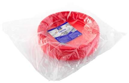 Набор одноразовых тарелок Horeca Select цветная 167 мм красный 50 шт