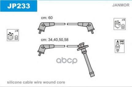 Комплект проводов зажигания JANMOR JP233