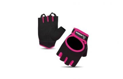 Перчатки для фитнеса Larsen 16-8344, розовые/черные, S