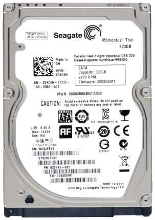 Внутренний жесткий диск Seagate Momentus Thin 320GB (ST320LT007)