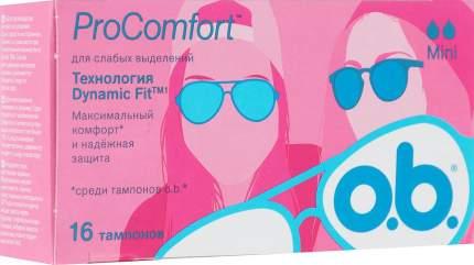 Тампоны o.b. ProComfort Mini 16 шт