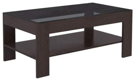 Журнальный столик Мебелик BeautyStyle 26 1064 110х60х46,5 см, венге/стекло чёрное