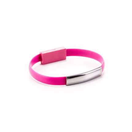 Кабель-браслет Gmini GM-WDC-200P microUSB Pink