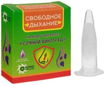 Карандаш-ингалятор Бизорюк Фабрика здоровья свободное дыхание сочный виноград