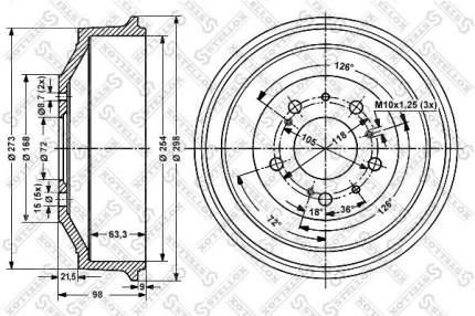 Тормозной барабан STELLOX 6026-9906-SX