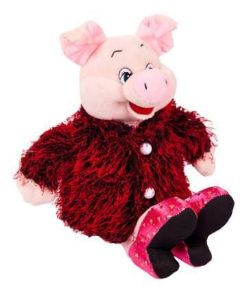 Мягкая игрушка Chuzhou Greenery Свинка в розовых туфлях и бордовой шубке 19533
