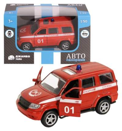 Машинка металлическая АВТОПАНОРАМА Пожарная служба, красная, 1200066