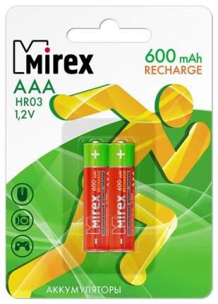 Аккумулятор Ni-MH Mirex HR03 / AAA 600mAh 1,2V 2 шт