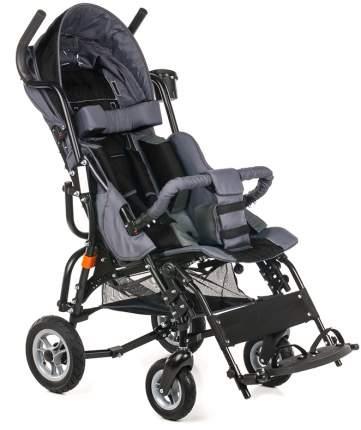 Кресло-коляска Meyra Optimus для детей ДЦП черный-серый цельнолитые
