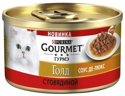 Консервы для кошек Gourmet Gold, говядина, 12шт, 85г