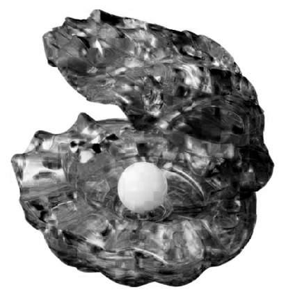 Объемный 3D-пазл Crystal Puzzle Черная жемчужина 90321