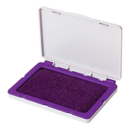 Штемпельная подушка BRAUBERG 236869, 100х80 мм (рабочая поверхность 90х50 мм), фиолетовая