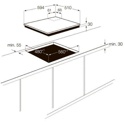 Встраиваемая варочная панель газовая Zanussi ZGG66414BA Black