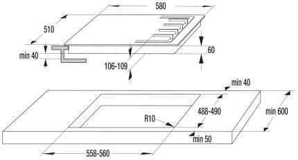 Встраиваемая варочная панель комбинированная Gorenje K6N20IX Silver