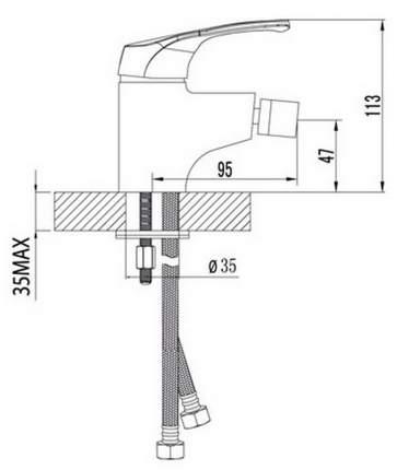 Смеситель для биде LEMARK Omega LM3108C