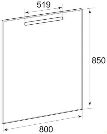 Зеркало для ванной Roca The Gap 80 ZRU9302689 серебристый
