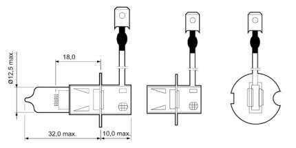 Лампа галогенная VALEO 55W PK22s 32005