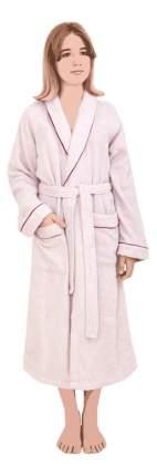 Халат банный Luxberry Basic розовая пудра/бордовый (XL)