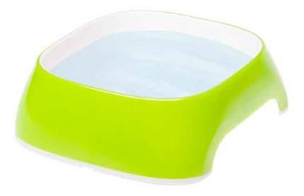 Одинарная миска для кошек и собак Ferplast, пластик, резина, зеленый, 0.4 л