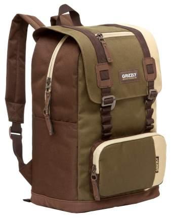 Рюкзак Grizzly RU-619-2 песочный/хаки/коричневый 14 л