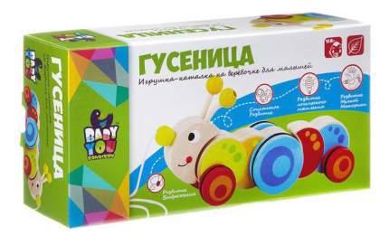 Игрушка-каталка с веревочкой Гусеница Bondibon вв2037