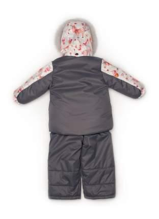 Комплект: куртка и полукомбинезон с опушкой N218/1 (единороги+серый)