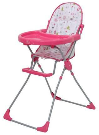 Стульчик для кормления Polini Kids 152 Лесные друзья, Розовый