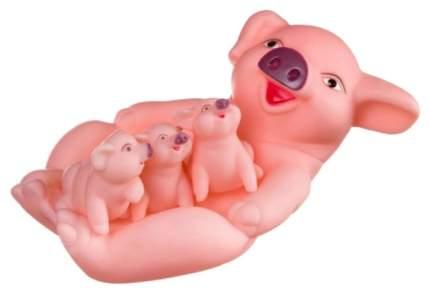 Набор игрушек для купания Bondibon Свинья с поросятами 4 штуки ВВ2754