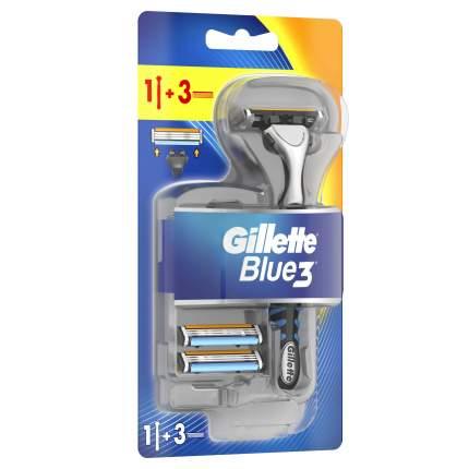 Бритвенная ручка Gillette Blue3 3 сменные кассеты