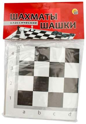 Игра настольная Рыжий кот Шахматы и шашки классические + поле 28,5х28,5 см