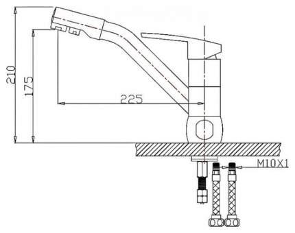 Смеситель для кухонной мойки Zorg ZR 400 KF-12 394465 серый шелк