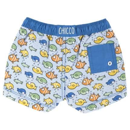 Плавки-шорты Chicco принт рыбки мультиколор, размер 92