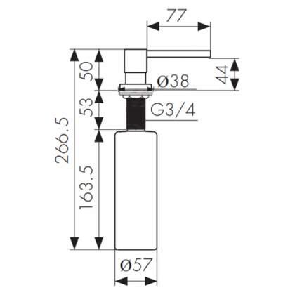 Дозатор для кухонной мойки Kaiser KH-3020 CR