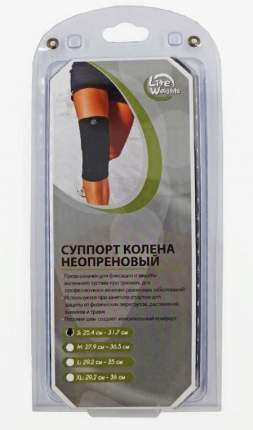 Суппорт колена Lite Weights 5115NS, L, синтетика