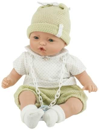 Пупс Nines d'Onil Малыш в шапке, в бежевой одежде