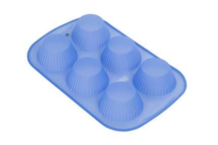 Форма для кексов Silicone 6 ячеек Hoff Silicone