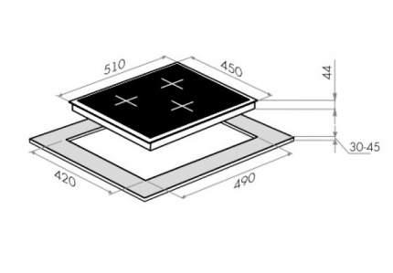 Встраиваемая индукционная панель Maunfeld EVI.453-BK