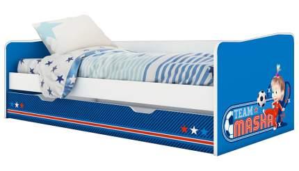 Кровать детская выдвижная Polini kids Fun 4200 Маша и Медведь синяя