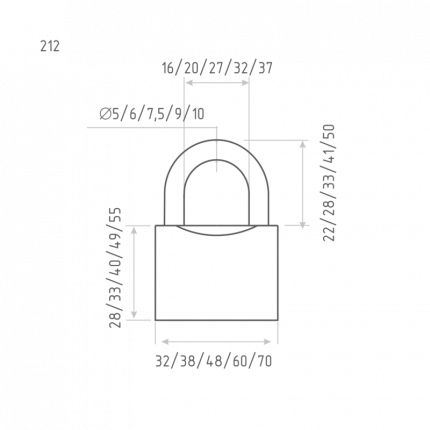 Замок навесной ЗН-212-32 мм (3кл.) (шт.) Нора-М