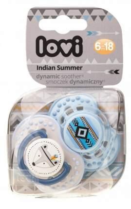 Пустышка динамическая Lovi Indian Summer 22.857 силикон, 6-18 мес., 2 шт., для мальчика
